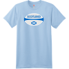 Scotland Rugby Ball T-Shirt Light Blue Hanes Nano 4980 Ringspun Cotton T Shirt