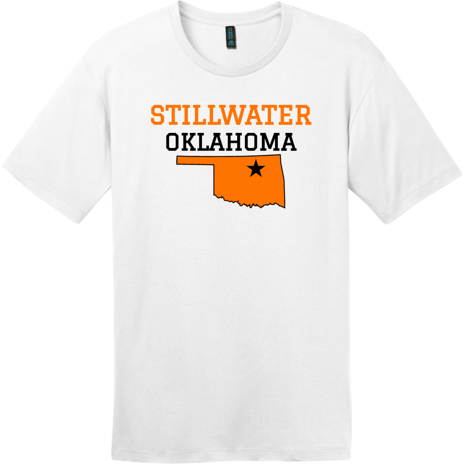 Stillwater Oklahoma T-Shirt Bright White District Perfect Weight Tee DT104