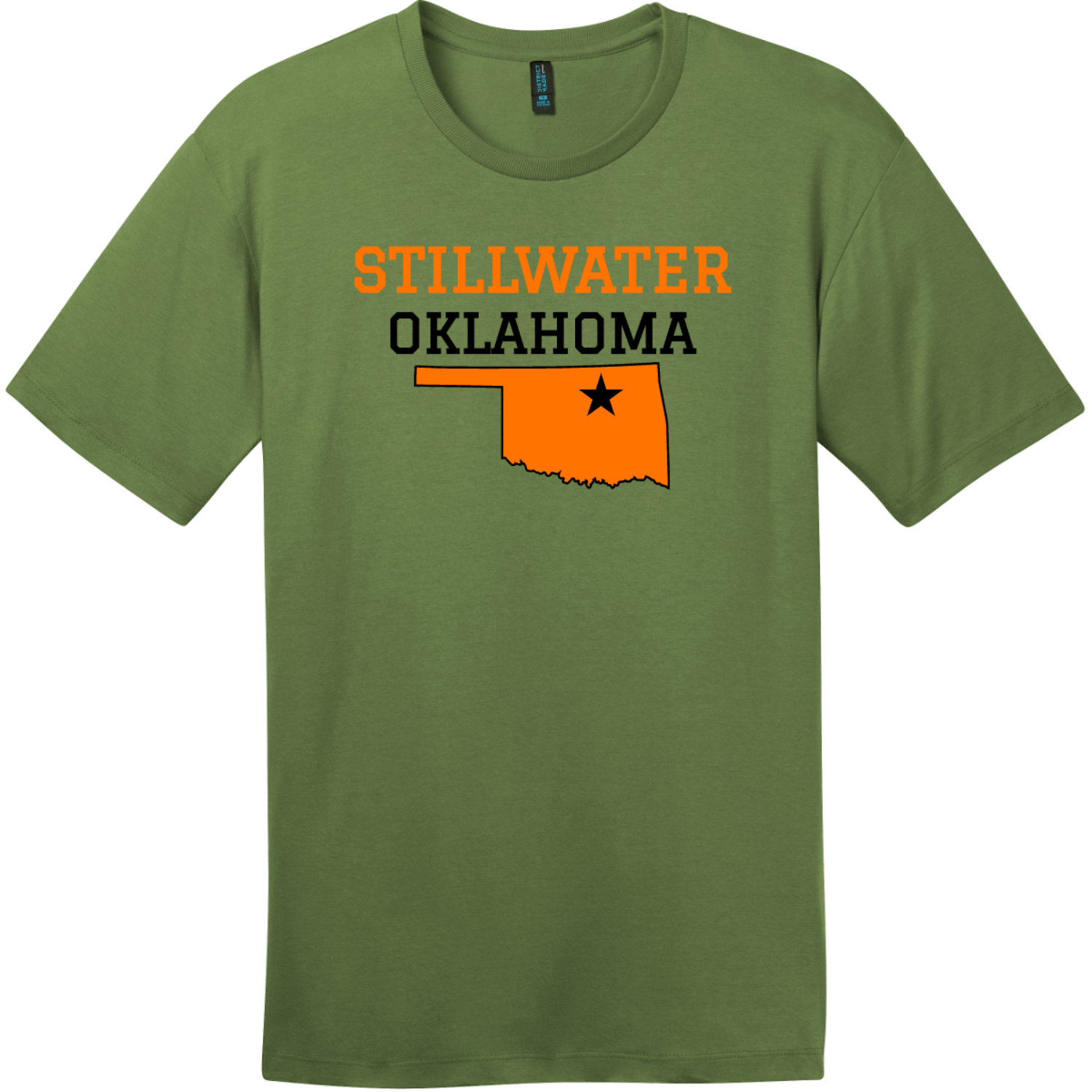 Stillwater Oklahoma T-Shirt Fresh Fatigue District Perfect Weight Tee DT104
