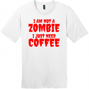 Zombie Coffee T-Shirt Bright White District Perfect Weight Tee DT104