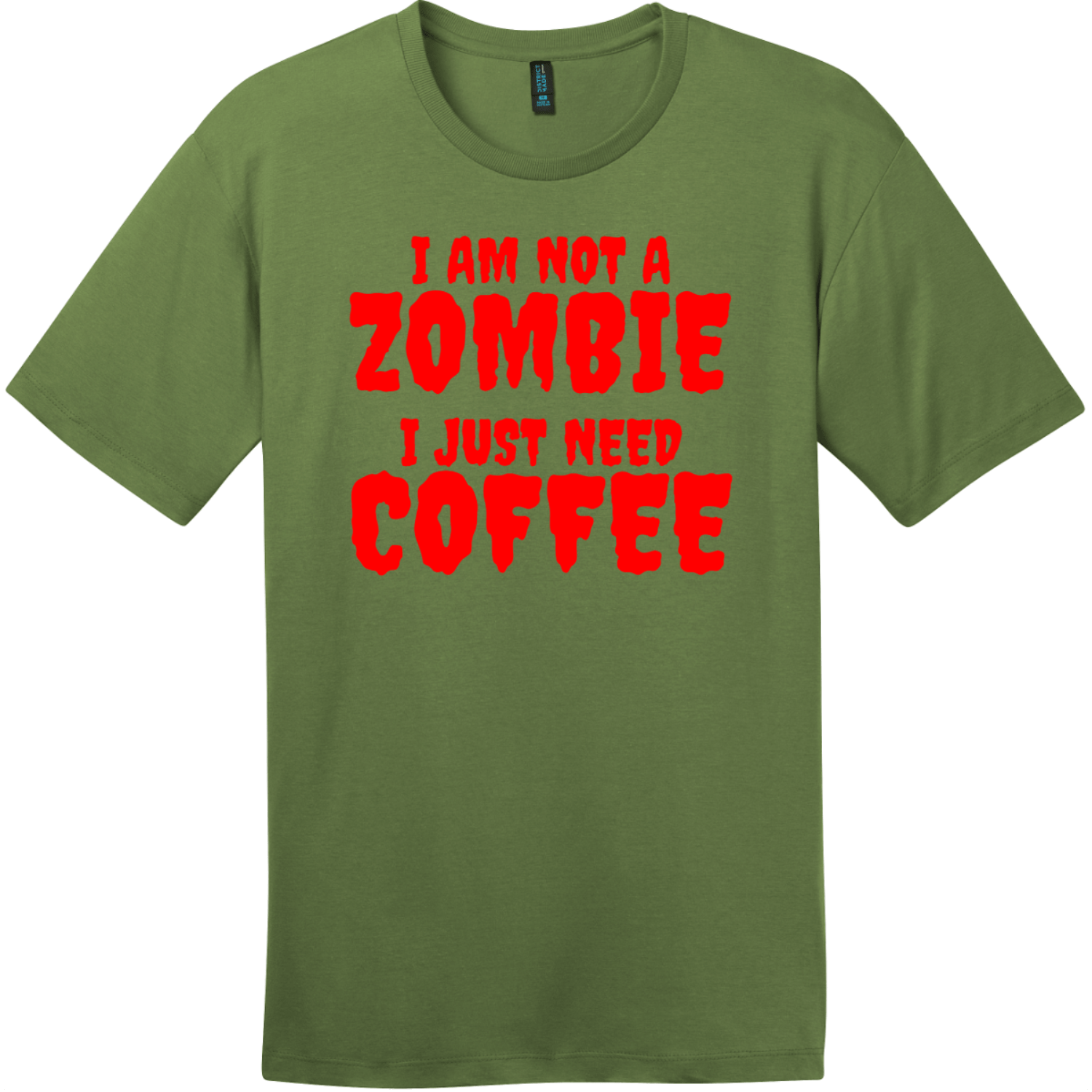 Zombie Coffee T-Shirt Fresh Fatigue District Perfect Weight Tee DT104