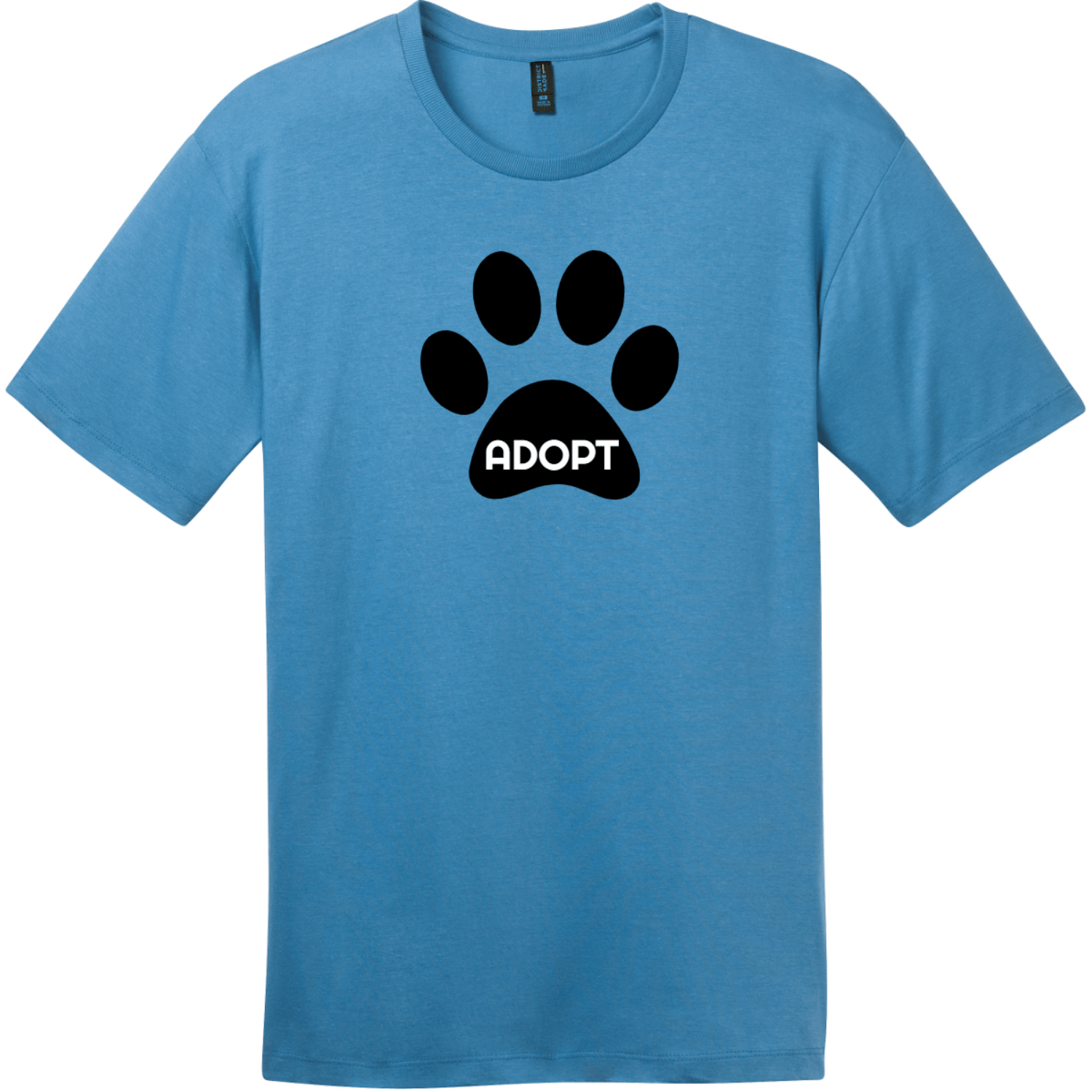 Adopt Pet Paw T-Shirt Clean Denim District Perfect Weight Tee DT104