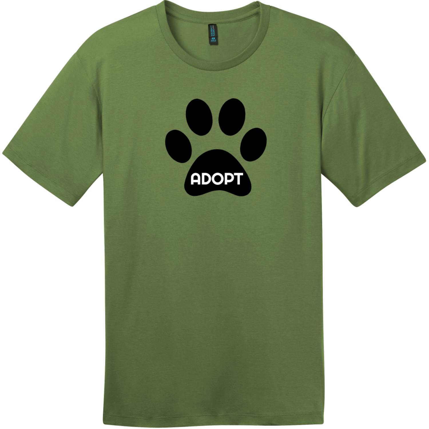 Adopt Pet Paw T-Shirt Fresh Fatigue District Perfect Weight Tee DT104