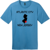 Atlantic City New Jersey T-Shirt Clean Denim District Perfect Weight Tee DT104