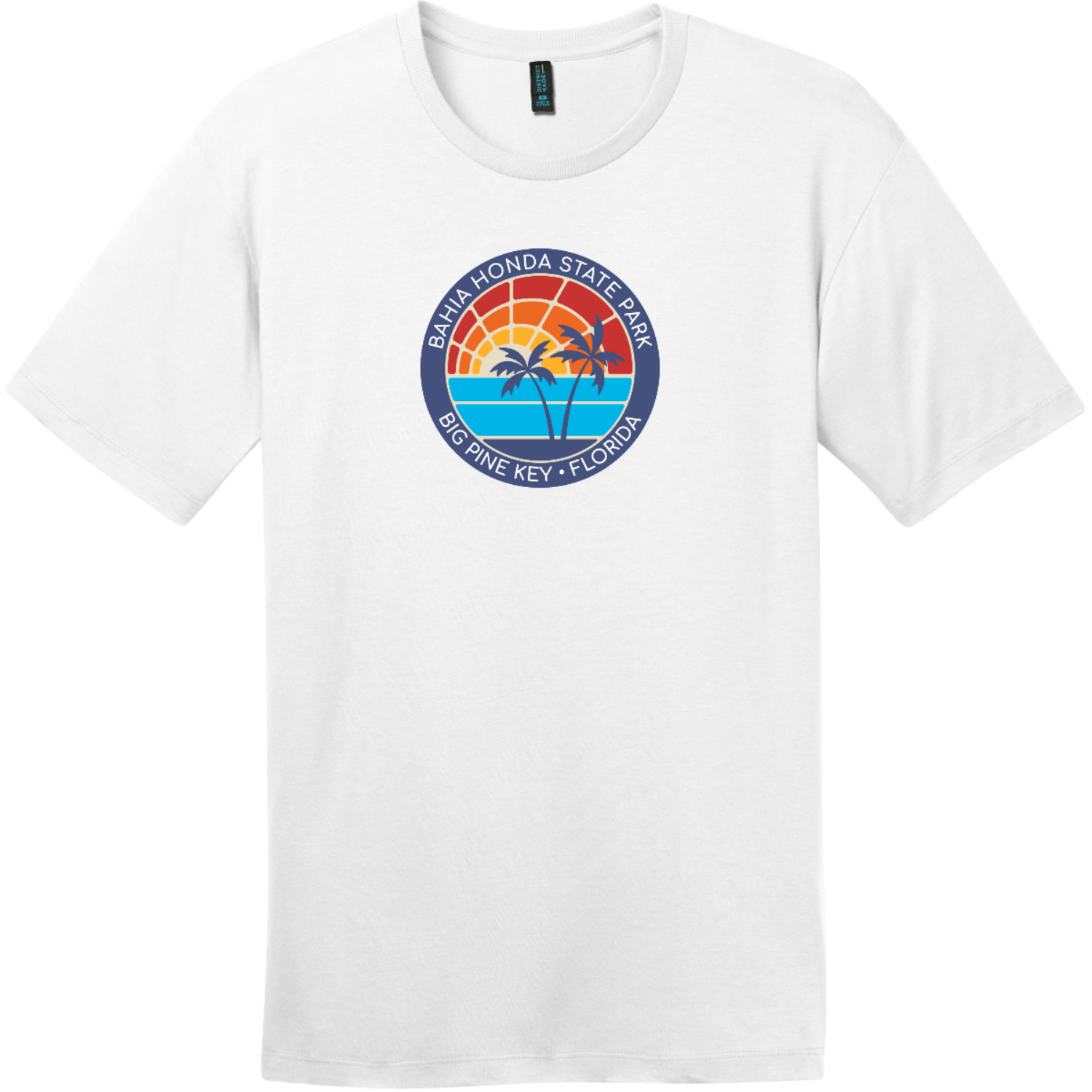 Bahia Honda State Park T-Shirt Bright White District Perfect Weight Tee DT104