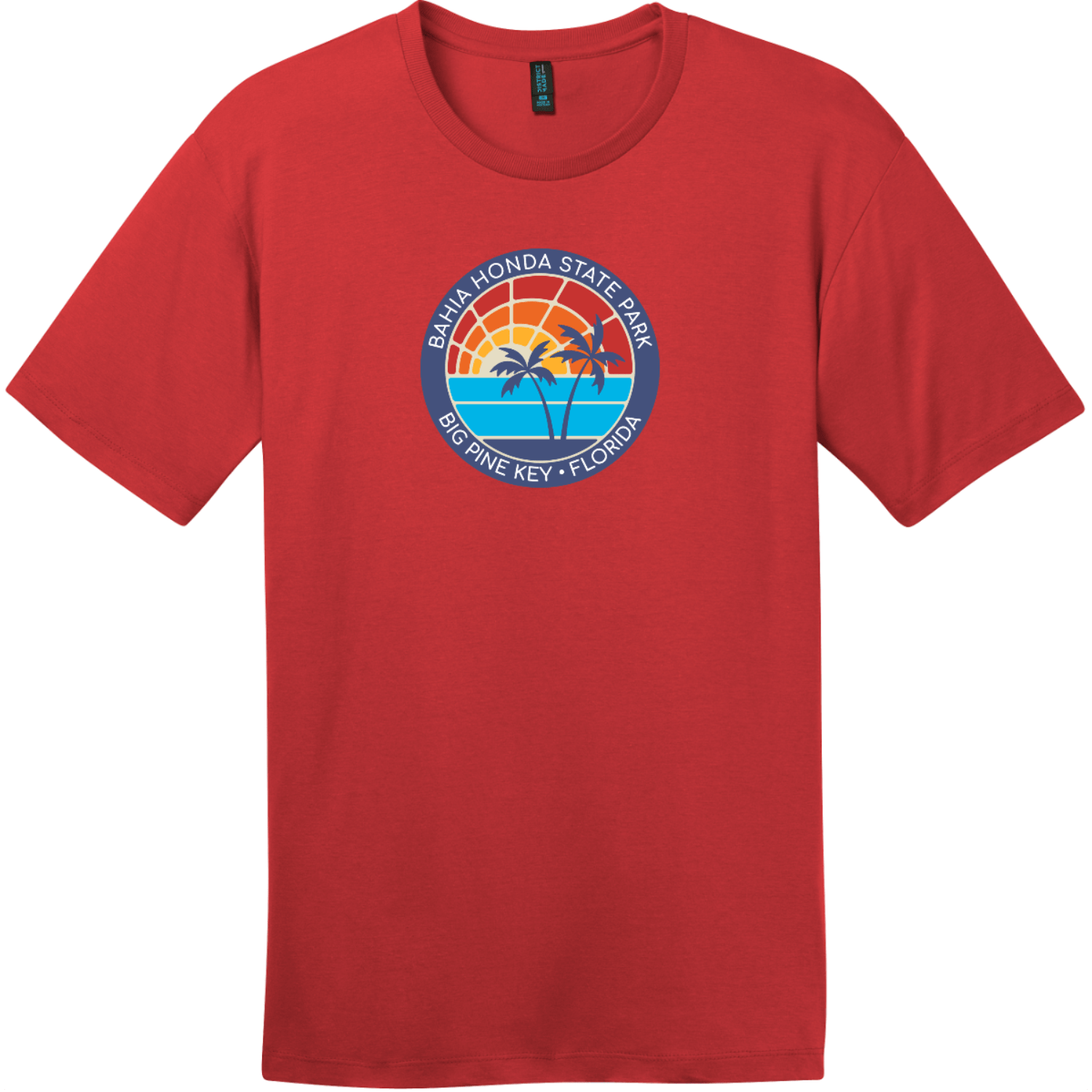 Bahia Honda State Park T-Shirt Classic Red District Perfect Weight Tee DT104