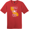 California Republic State T-Shirt Classic Red District Perfect Weight Tee DT104