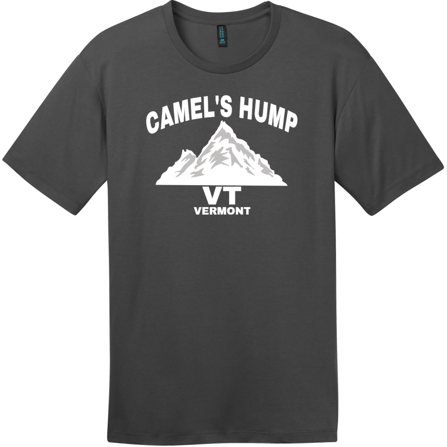 Camel's Hump Mountain Vermont T-Shirt Charcoal District Perfect Weight Tee DT104