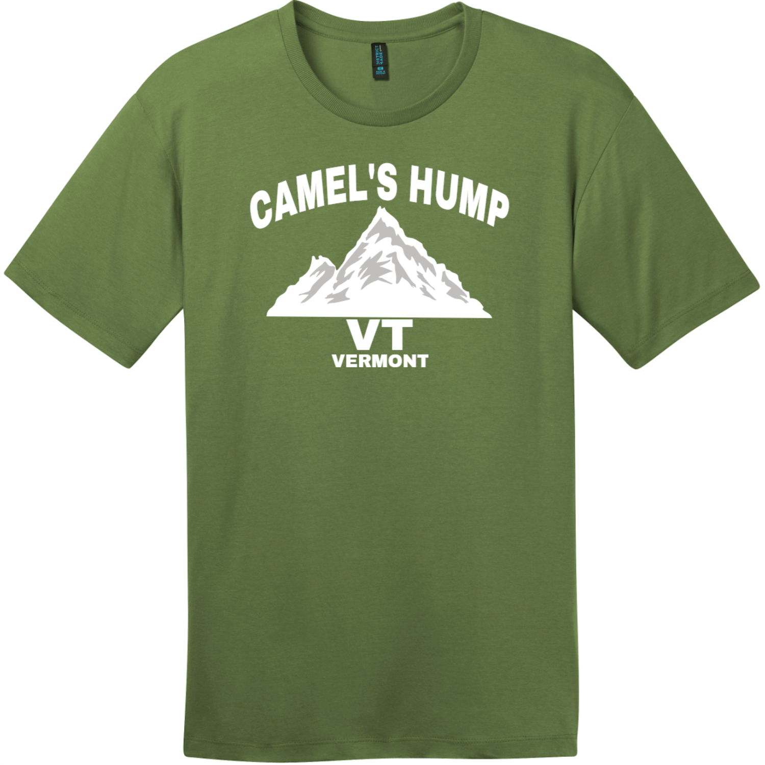 Camel's Hump Mountain Vermont T-Shirt Fresh Fatigue District Perfect Weight Tee DT104