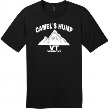Camel's Hump Mountain Vermont T-Shirt Jet Black District Perfect Weight Tee DT104