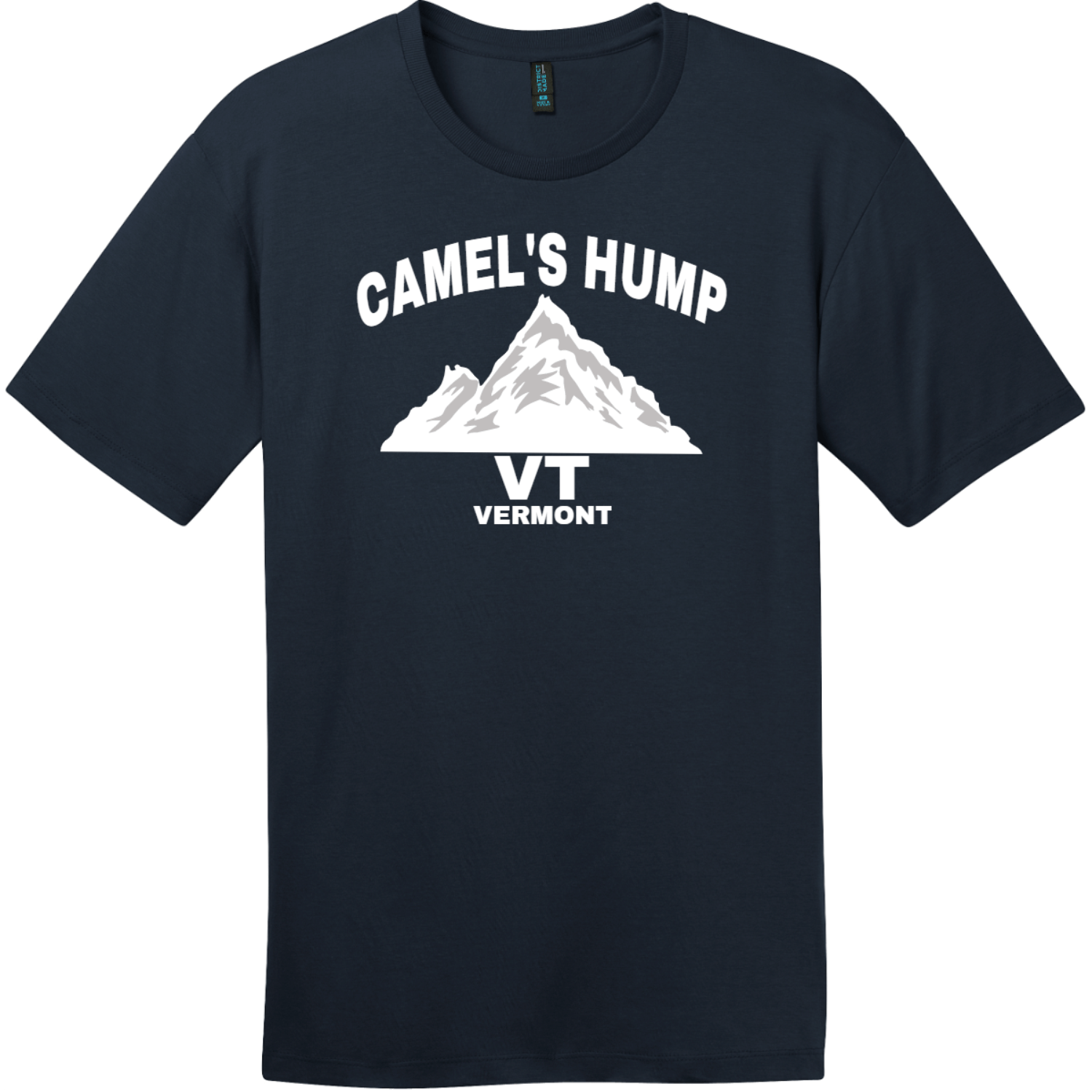 Camel's Hump Mountain Vermont T-Shirt New Navy District Perfect Weight Tee DT104