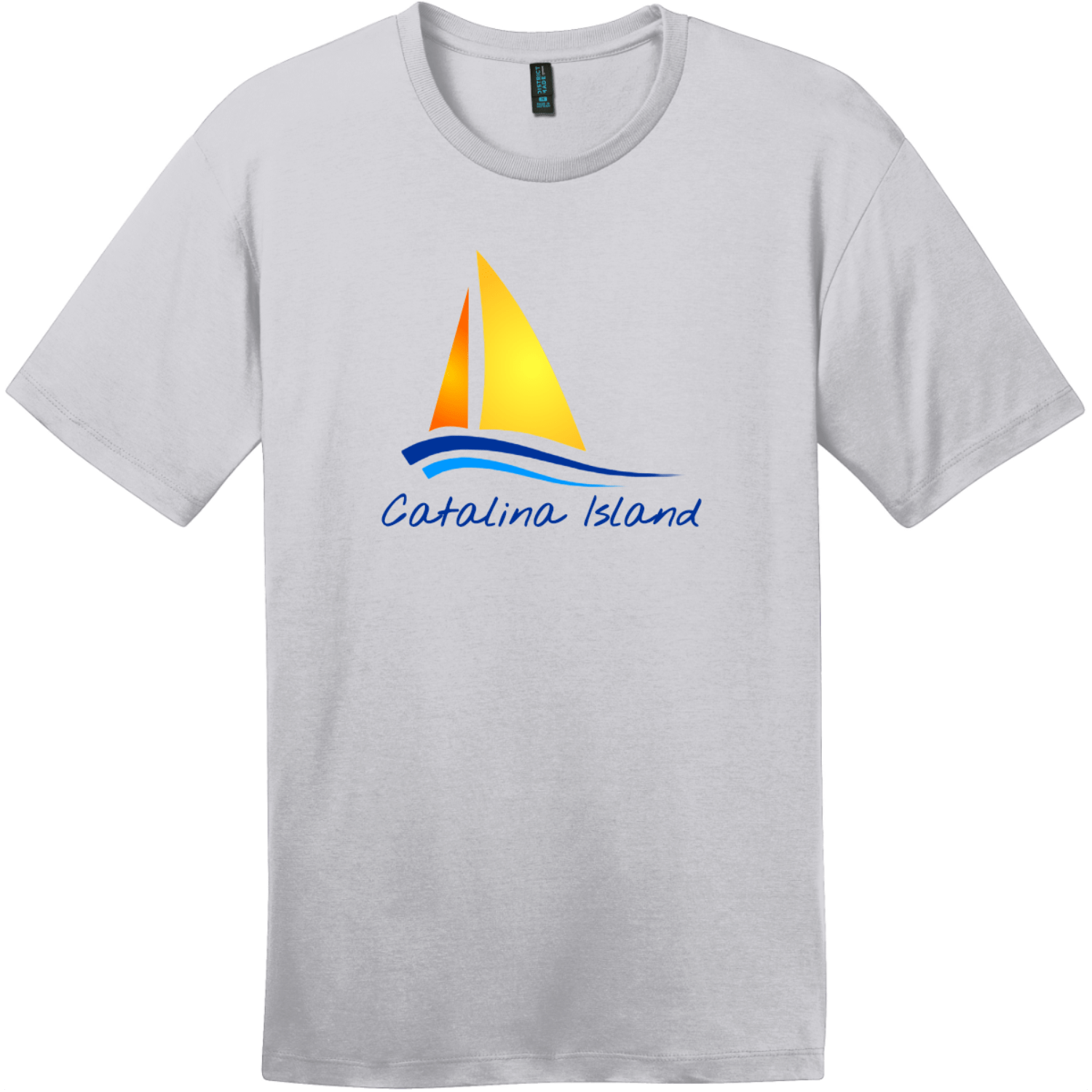 Catalina Island Sailboat T-Shirt Silver District Perfect Weight Tee DT104