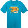 Cocoa Beach Florida Wave T-Shirt Bright Turquoise District Perfect Weight Tee DT104