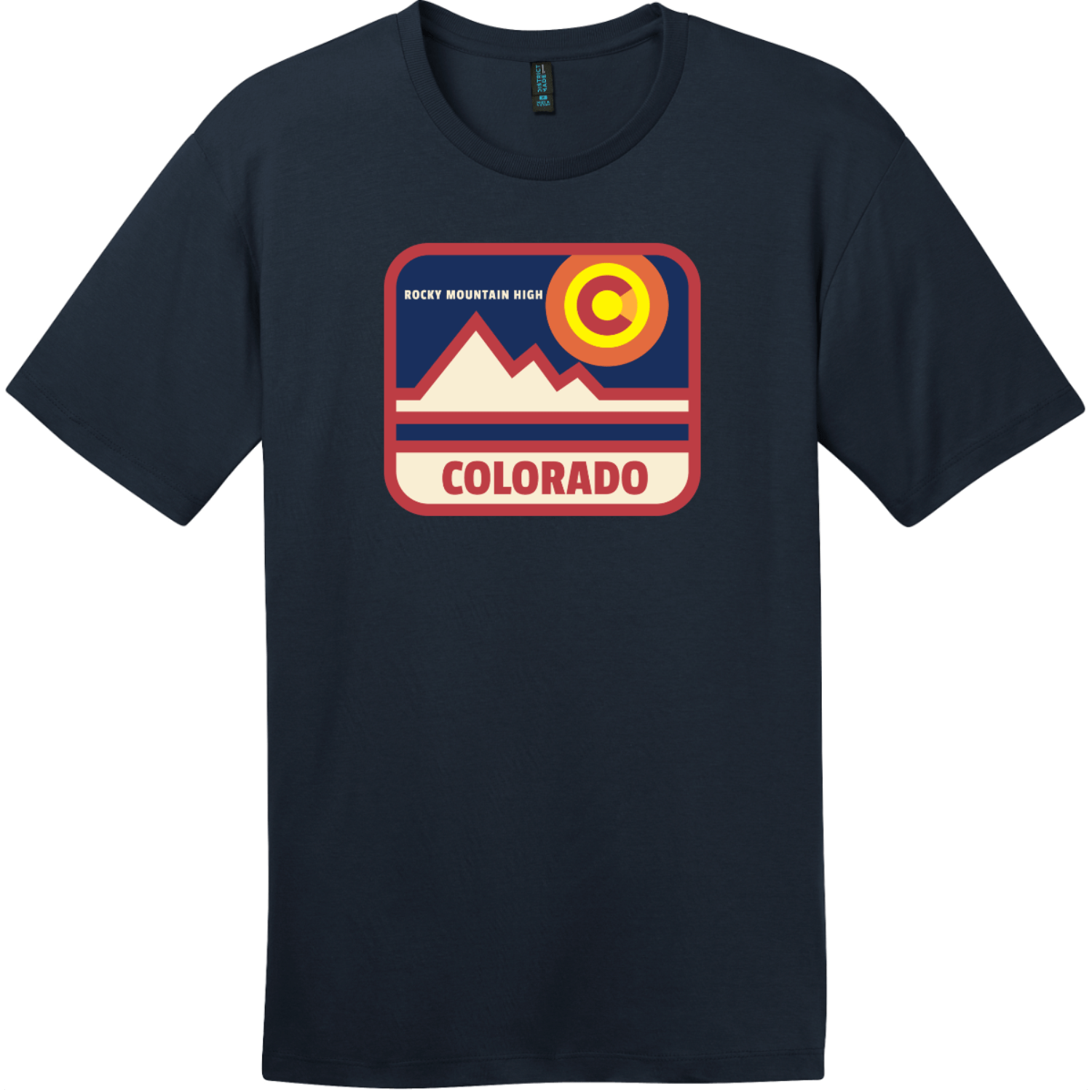 Colorado Rocky Mountain High T-Shirt New Navy District Perfect Weight Tee DT104