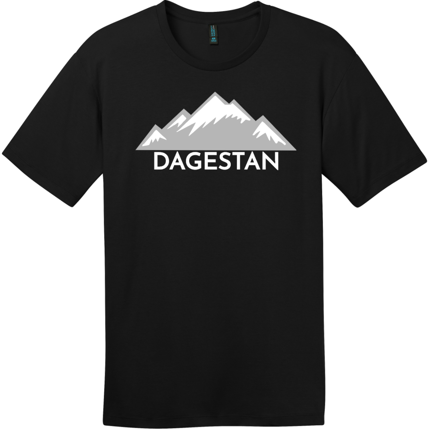 Dagestan Mountain T-Shirt Jet Black District Perfect Weight Tee DT104