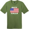 Duty Calls American Flag T-Shirt Fresh Fatigue District Perfect Weight Tee DT104