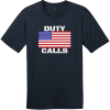 Duty Calls American Flag T-Shirt New Navy District Perfect Weight Tee DT104