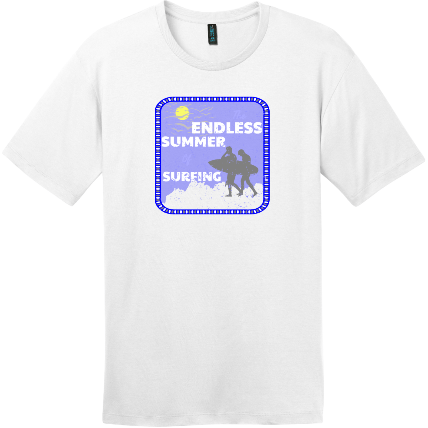 Endless Summer Bright White District Perfect Weight Tee DT104