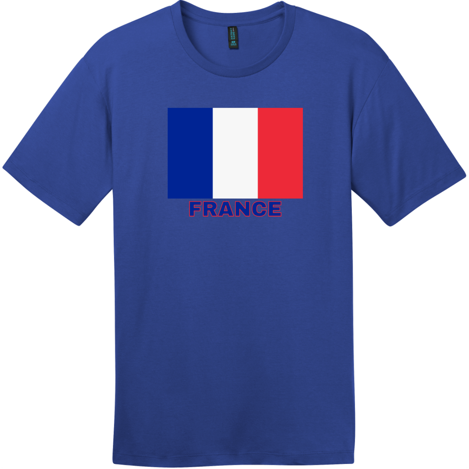 France Flag T-Shirt Deep Royal District Perfect Weight Tee DT104