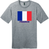 France Flag T-Shirt Heathered Steel District Perfect Weight Tee DT104