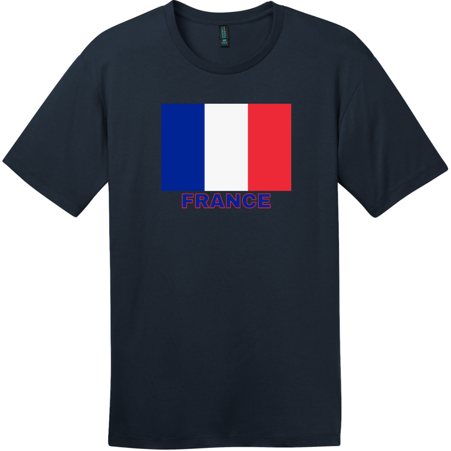 France Flag T-Shirt New Navy District Perfect Weight Tee DT104