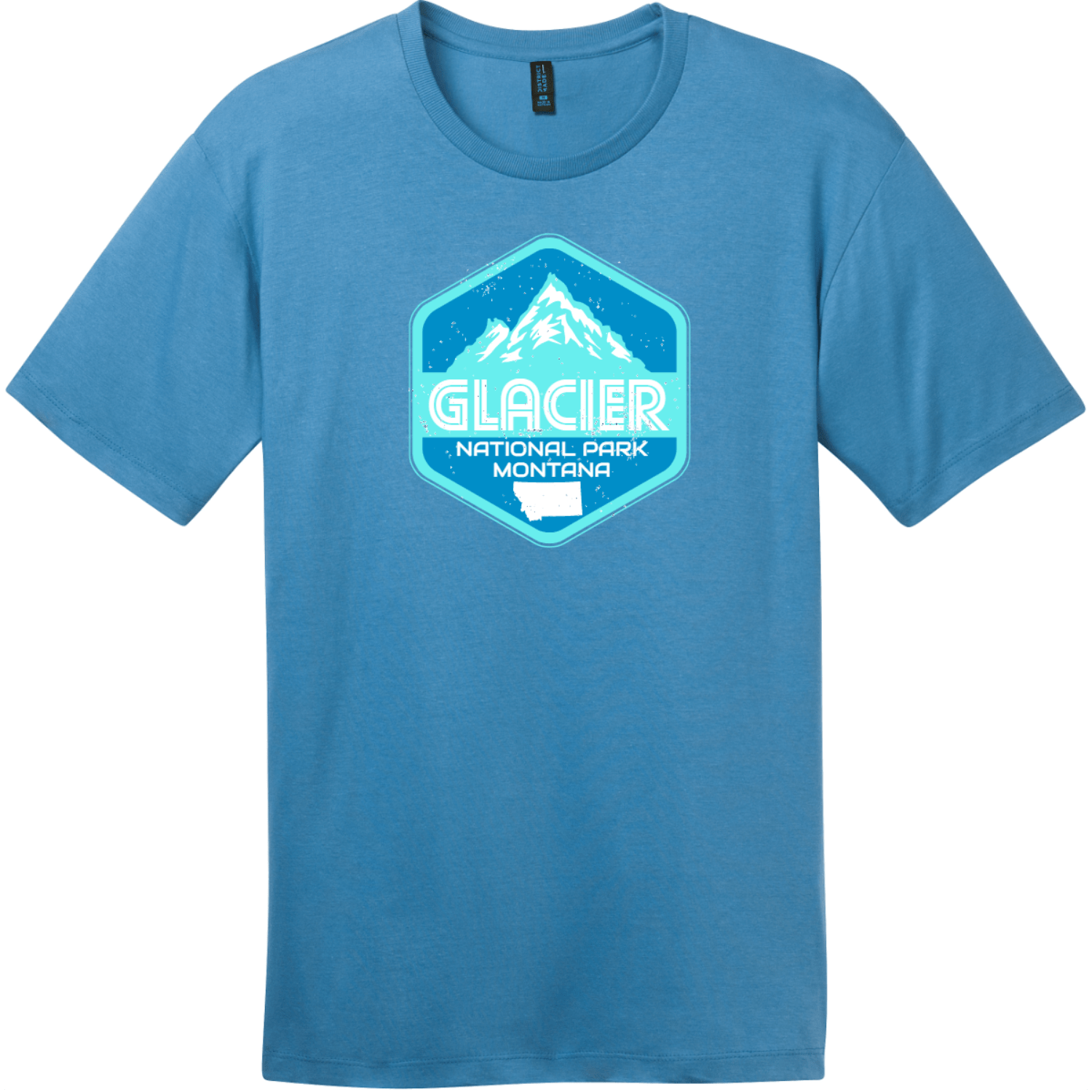 Glacier National Park Montana T-Shirt Clean Denim District Perfect Weight Tee DT104