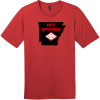 Hot Springs Arkansas State T-Shirt Classic Red District Perfect Weight Tee DT104