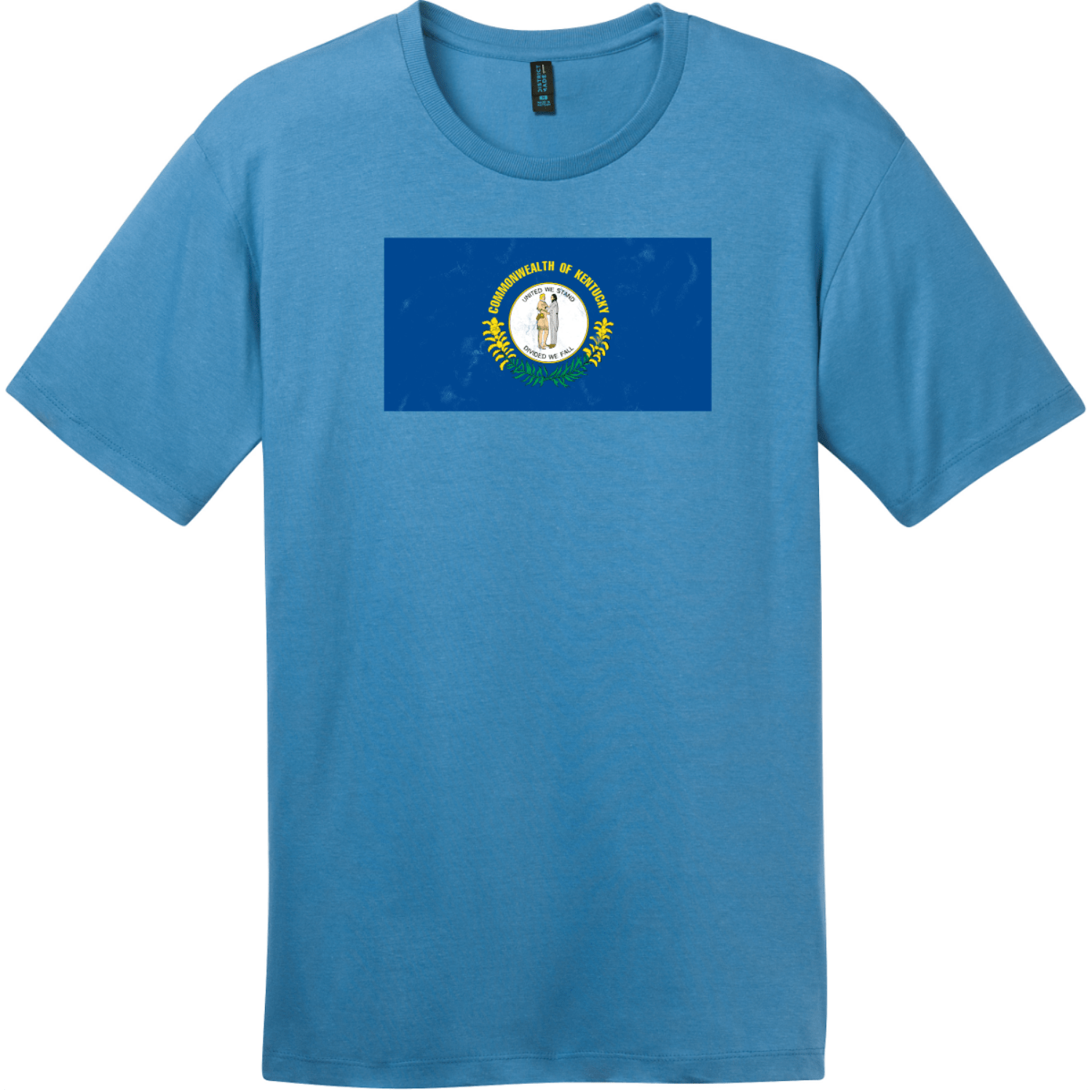 Kentucky State Flag Vintage T-Shirt Clean Denim District Perfect Weight Tee DT104