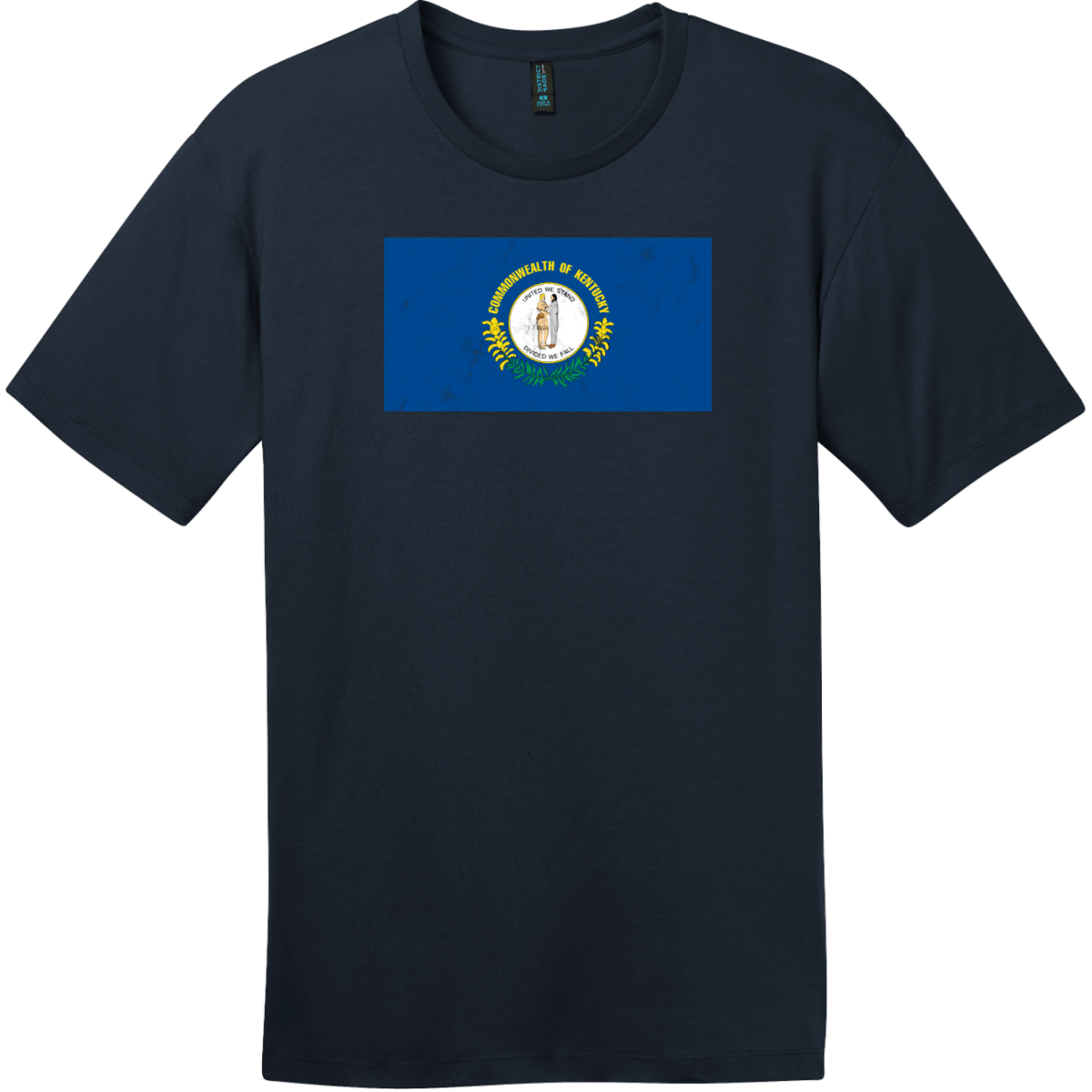 Kentucky State Flag Vintage T-Shirt New Navy District Perfect Weight Tee DT104