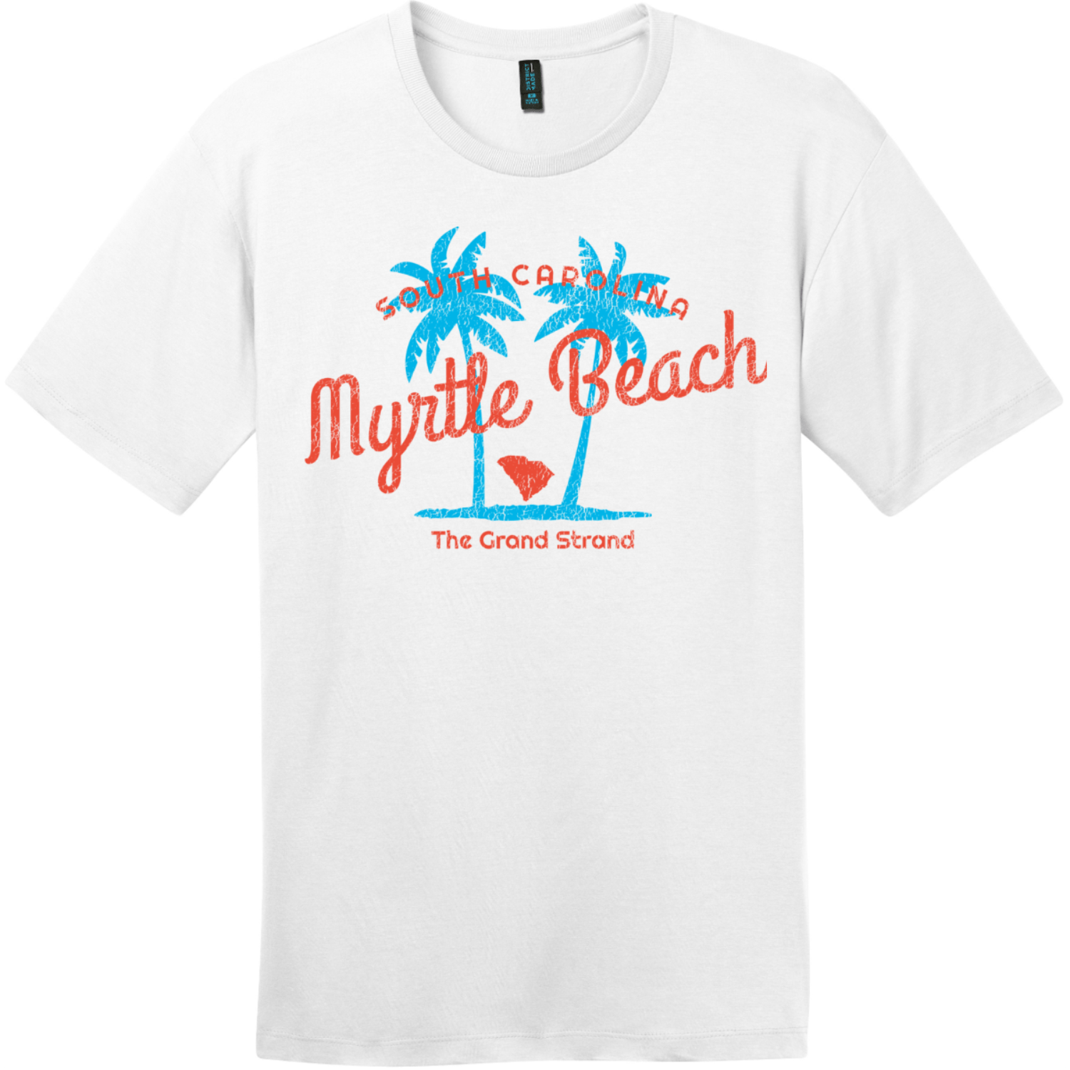 Myrtle Beach The Grand Strand T-Shirt Bright White District Perfect Weight Tee DT104