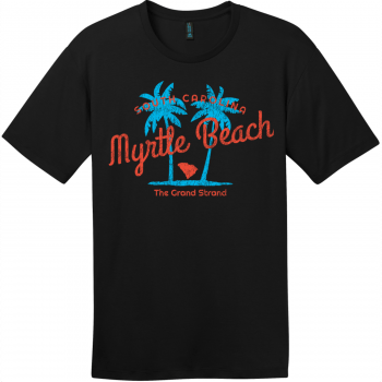 Myrtle Beach The Grand Strand T-Shirt Jet Black District Perfect Weight Tee DT104