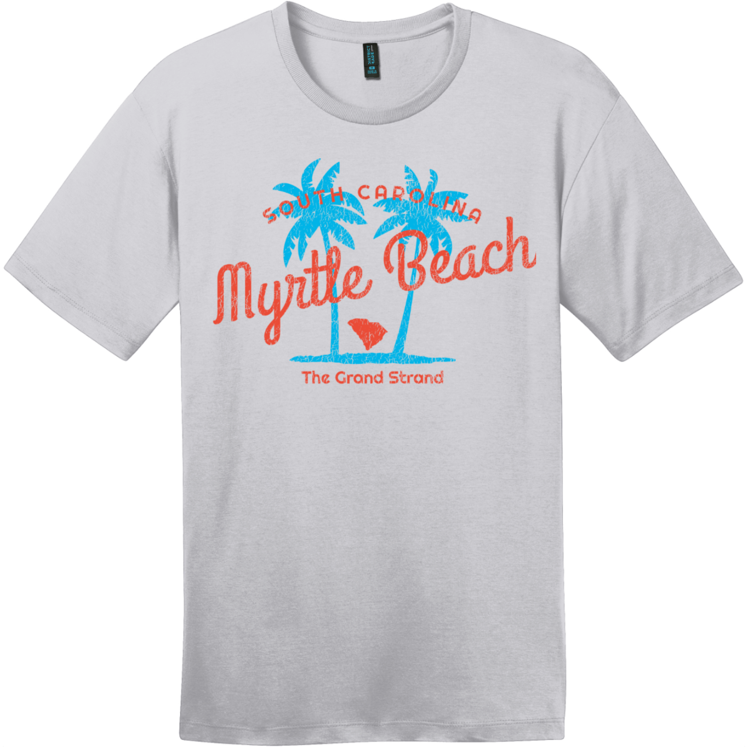Myrtle Beach The Grand Strand T-Shirt Silver District Perfect Weight Tee DT104