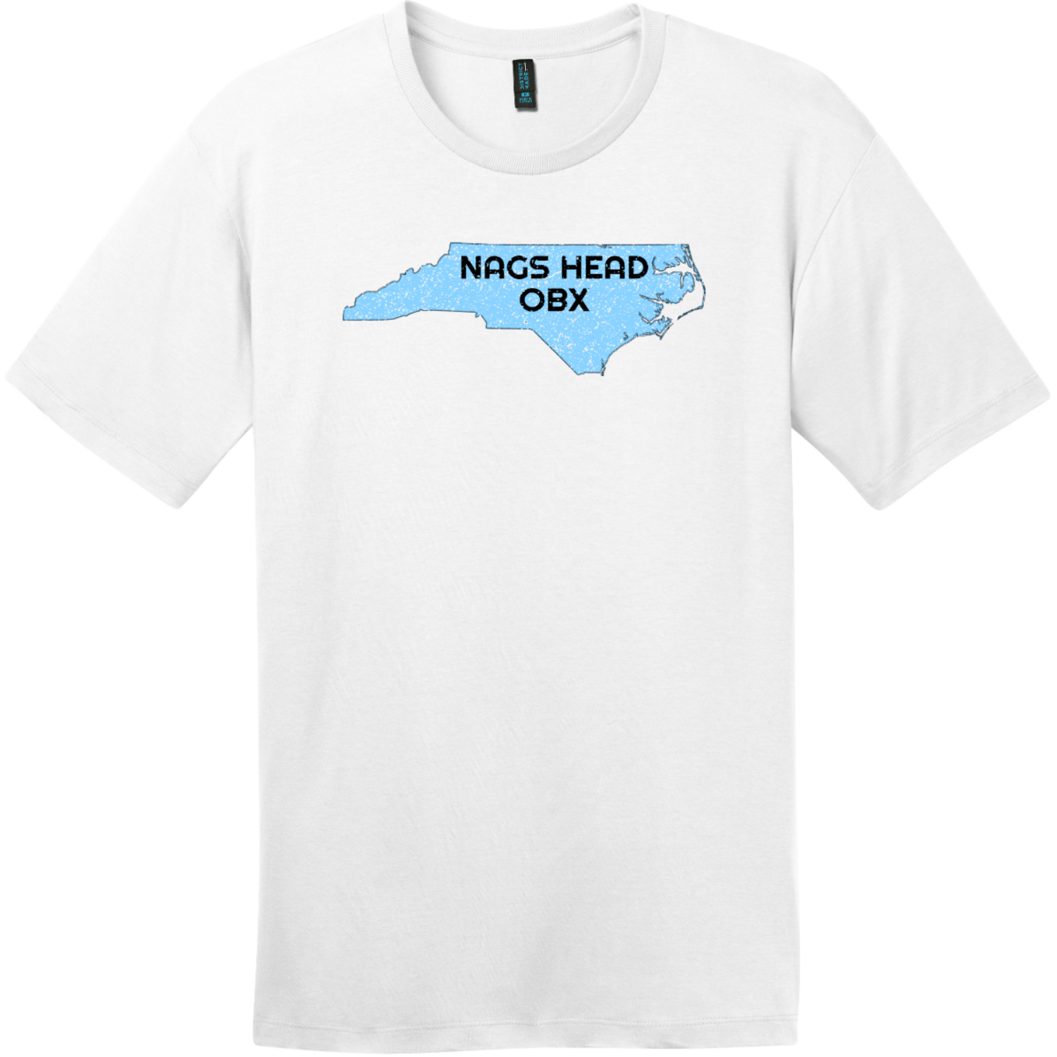 Nags Head OBX North Carolina State T-Shirt Bright White District Perfect Weight Tee DT104