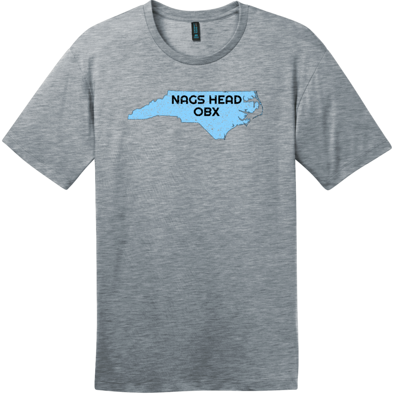 Nags Head OBX North Carolina State T-Shirt Heathered Steel District Perfect Weight Tee DT104