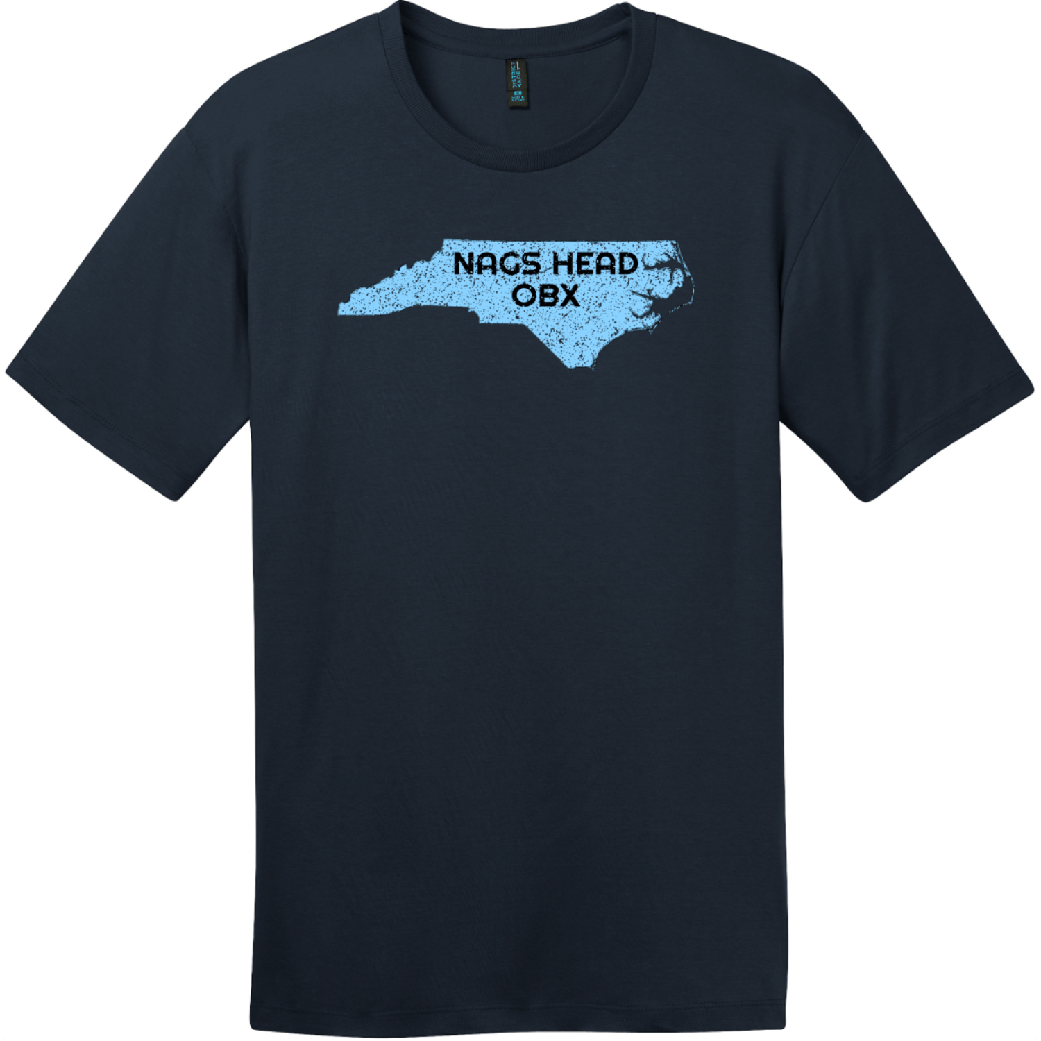 Nags Head OBX North Carolina State T-Shirt New Navy District Perfect Weight Tee DT104