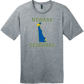 Newark Delaware State T-Shirt Heathered Steel District Perfect Weight Tee DT104