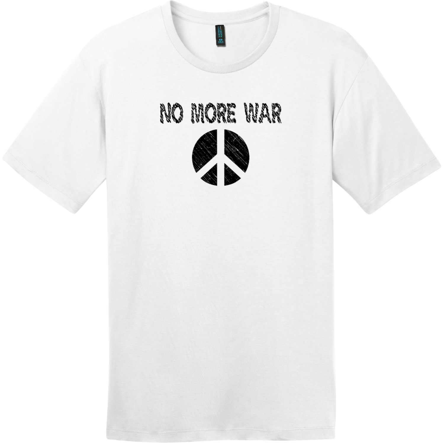 No More War T-Shirt Bright White District Perfect Weight Tee DT104
