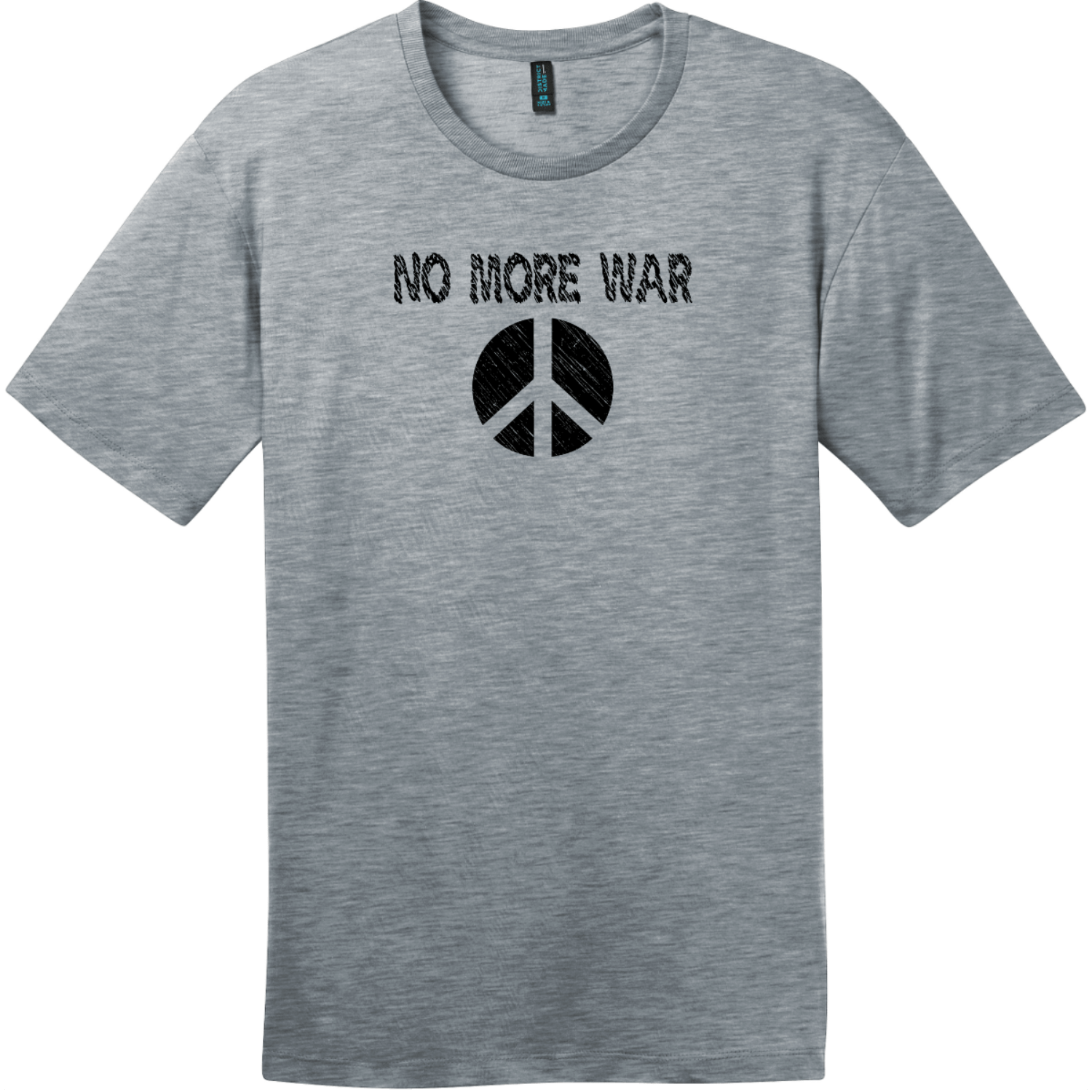 No More War T-Shirt Heathered Steel District Perfect Weight Tee DT104