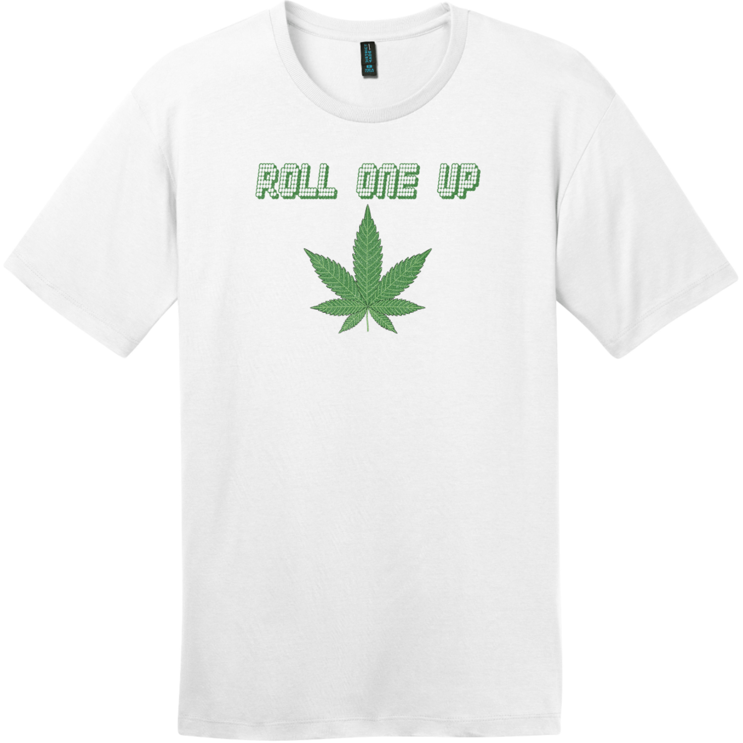 Roll One Up Weed T-Shirt Bright White District Perfect Weight Tee DT104