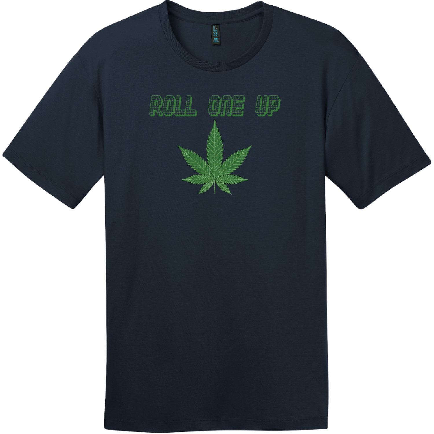Roll One Up Weed T-Shirt New Navy District Perfect Weight Tee DT104