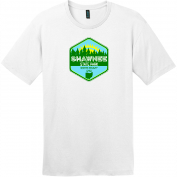 Shawnee State Park Ohio T-Shirt Bright White District Perfect Weight Tee DT104