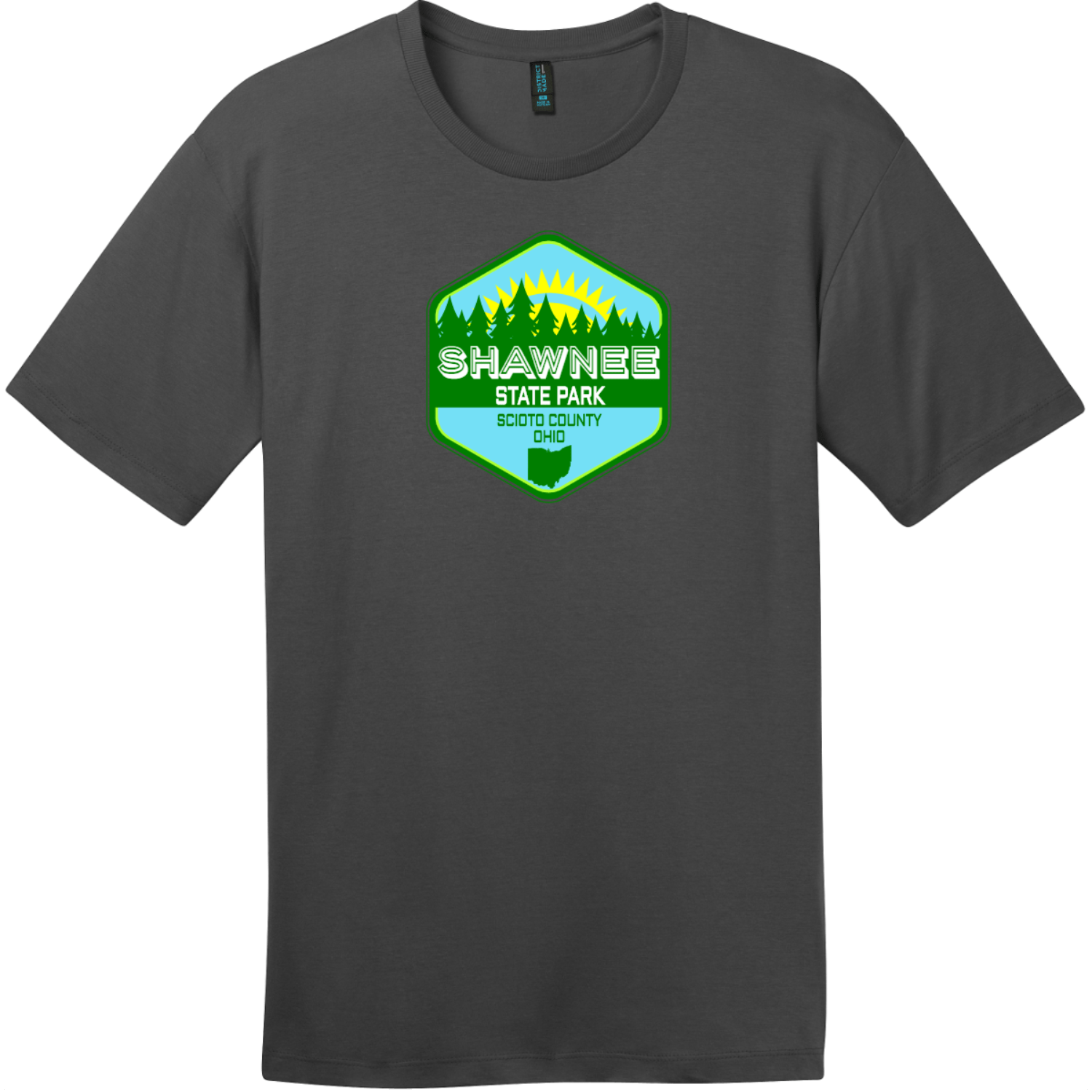 Shawnee State Park Ohio T-Shirt Charcoal District Perfect Weight Tee DT104