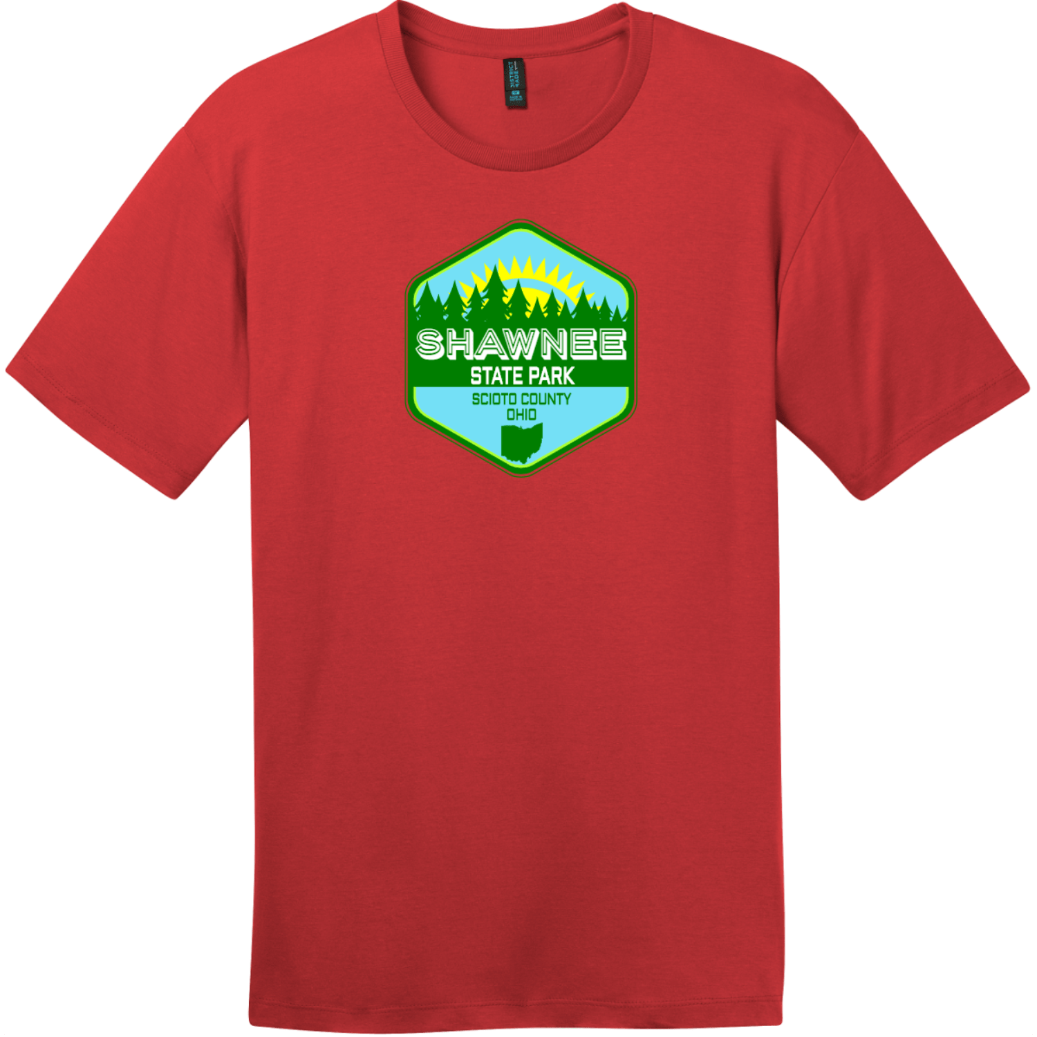 Shawnee State Park Ohio T-Shirt Classic Red District Perfect Weight Tee DT104