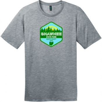 Shawnee State Park Ohio T-Shirt Heathered Steel District Perfect Weight Tee DT104