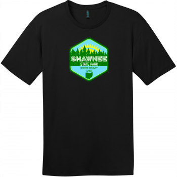 Shawnee State Park Ohio T-Shirt Jet Black District Perfect Weight Tee DT104