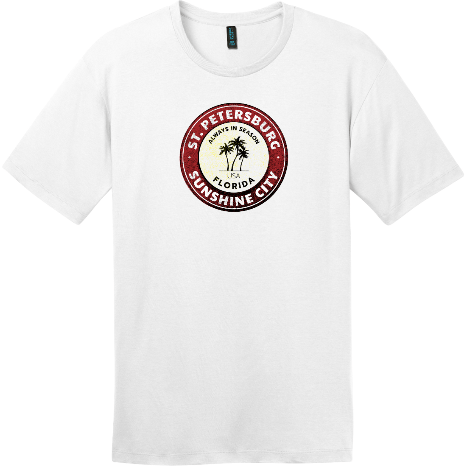 St. Petersburg Sunshine City Florida T-Shirt Bright White District Perfect Weight Tee DT104
