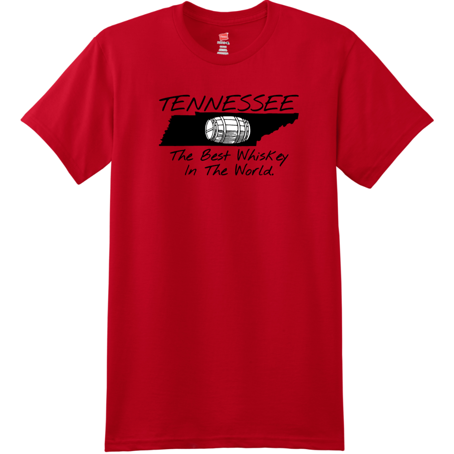 Tennessee Best Whiskey In The World T-Shirt Deep Red Hanes Nano 4980 Ringspun Cotton T Shirt