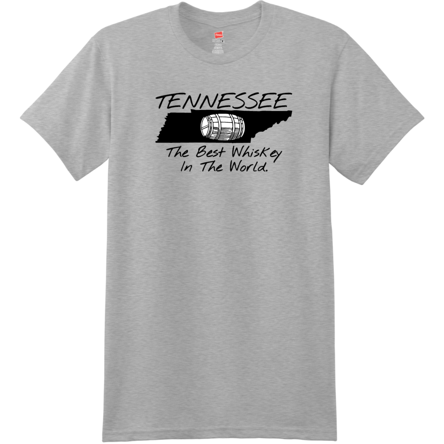 Tennessee Best Whiskey In The World T-Shirt Light Steel Hanes Nano 4980 Ringspun Cotton T Shirt