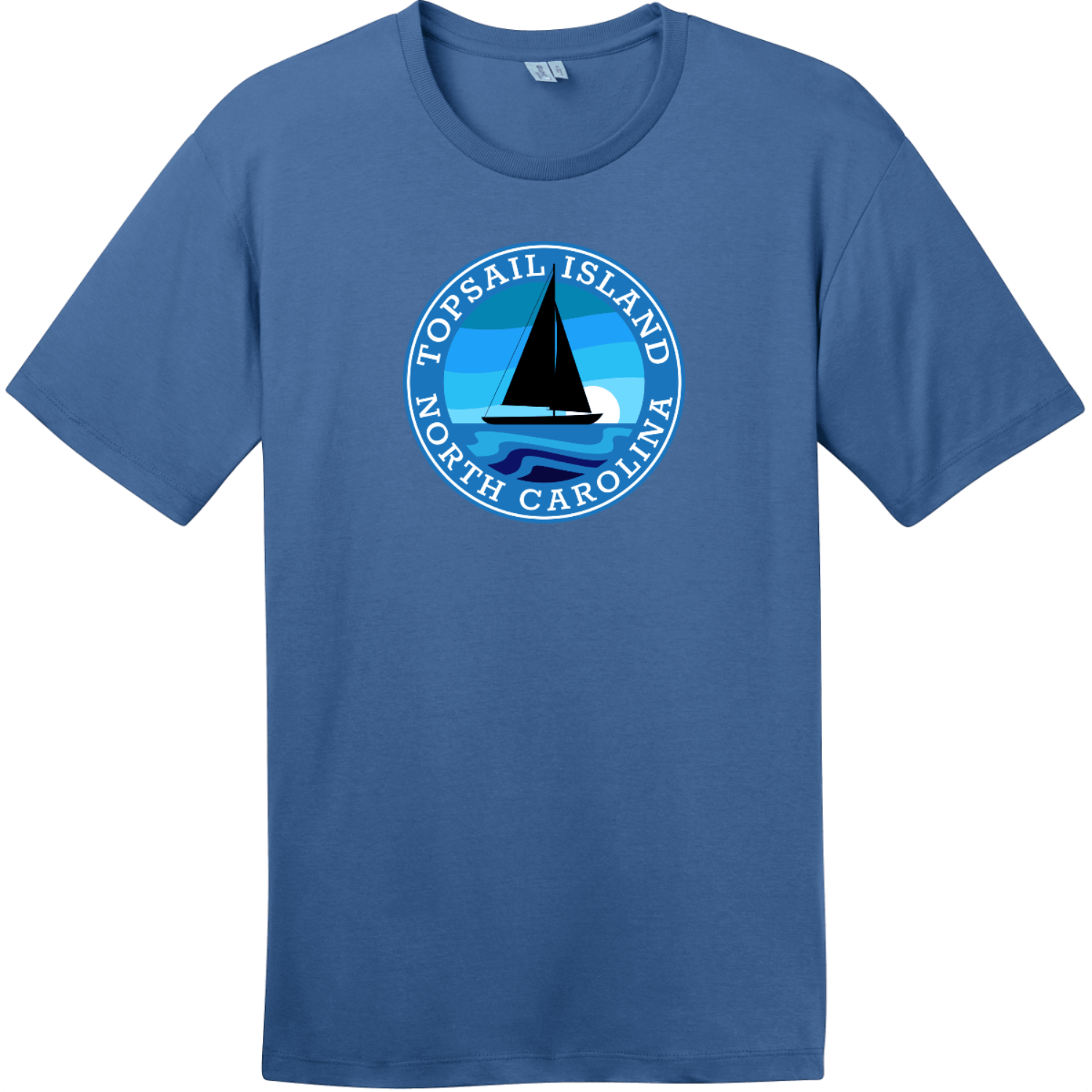Topsail Island North Carolina T-Shirt Maritime Blue District Perfect Weight Tee DT104