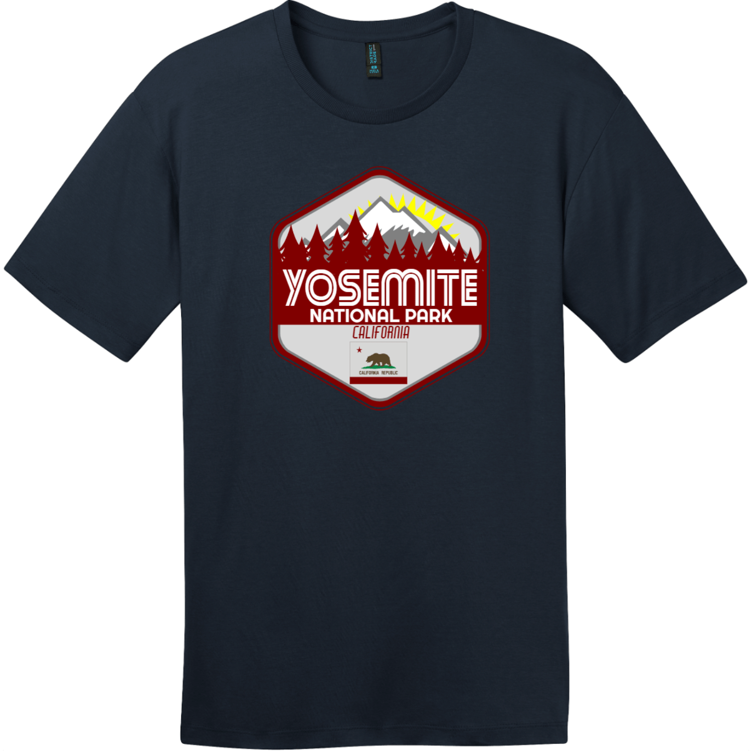 Yosemite National Park T-Shirt New Navy District Perfect Weight Tee DT104